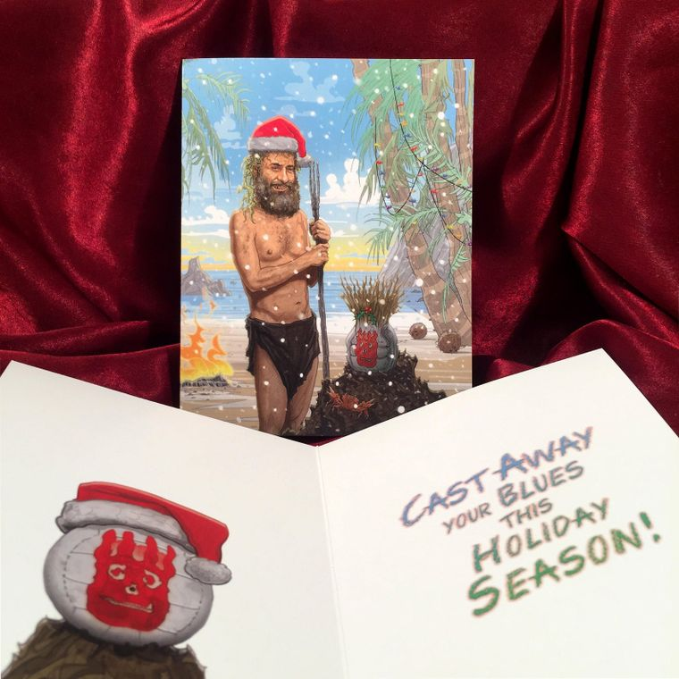 CAST AWAY Christmas Card