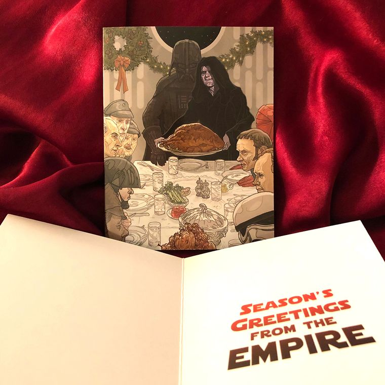 The Empire Season Greetings STAR WARS Christmas Card