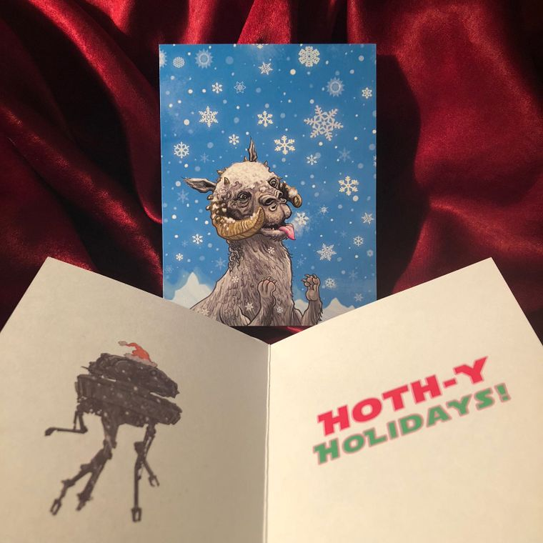 Tauntaun Snowflake STAR WARS Christmas Card