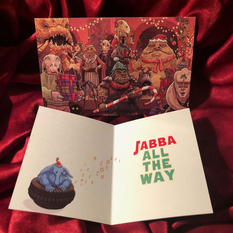 Jabba Bells STAR WARS Christmas Card
