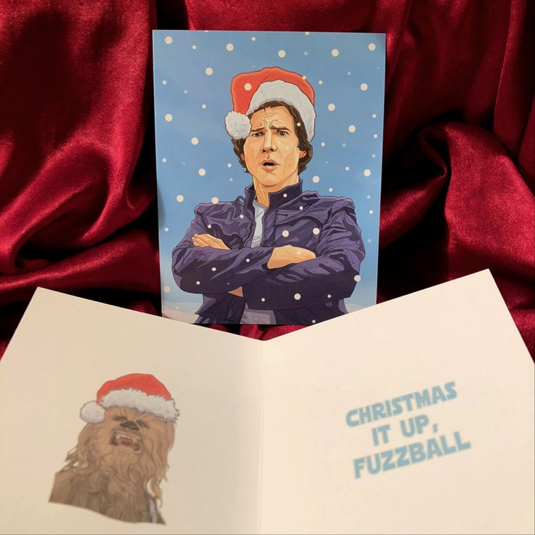 Han Solo STAR WARS Christmas Card