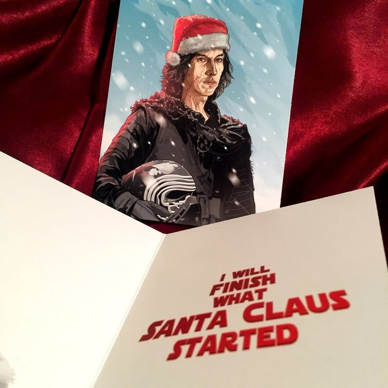 Kylo Ren STAR WARS Christmas Card