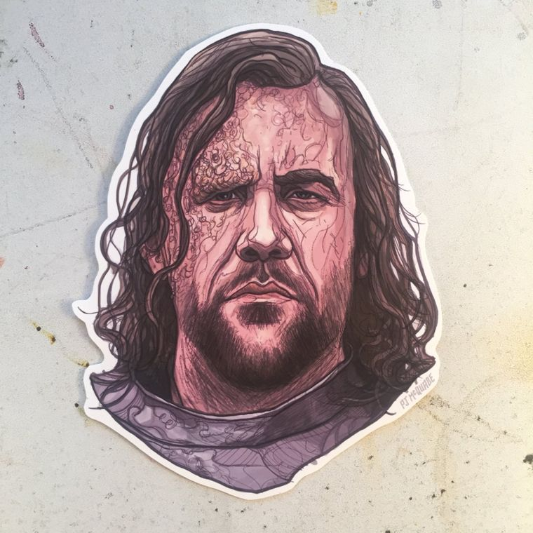 The Hound GAME of THRONES Waterproof Sticker