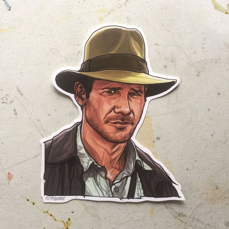 INDIANA JONES Waterproof Sticker