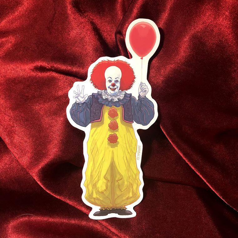 Pennywise Balloon IT 1990 Waterproof Sticker