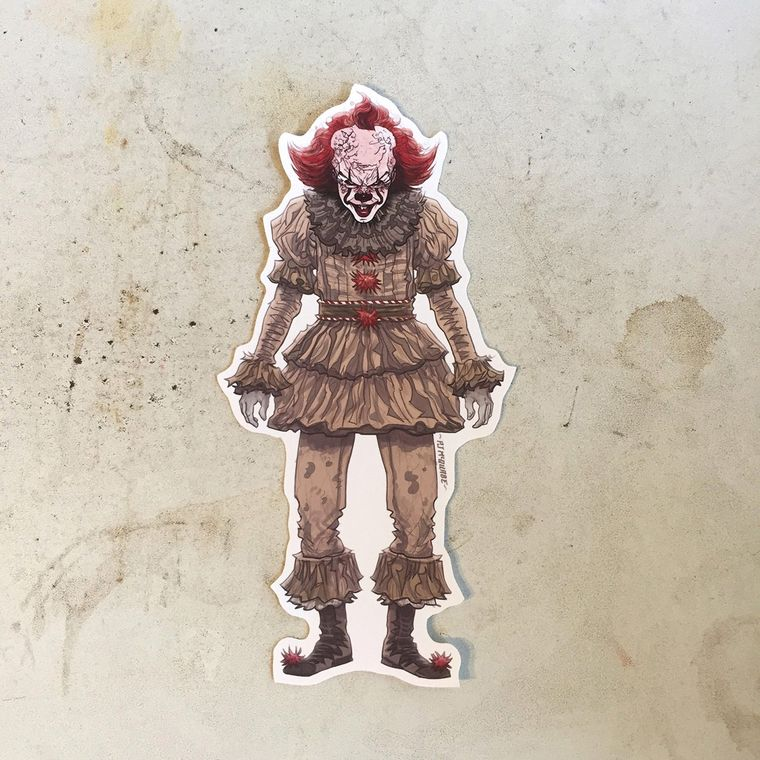 Pennywise IT 2017 Waterproof Sticker