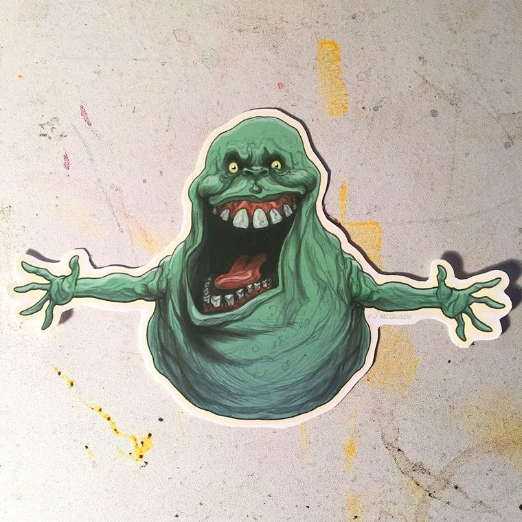 Slimer GHOSTBUSTERS Waterproof Sticker