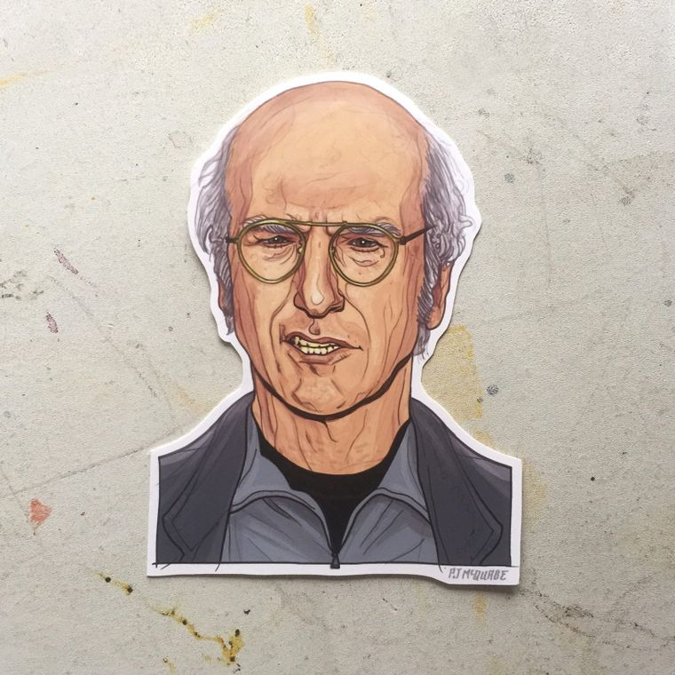 LARRY DAVID Waterproof Sticker