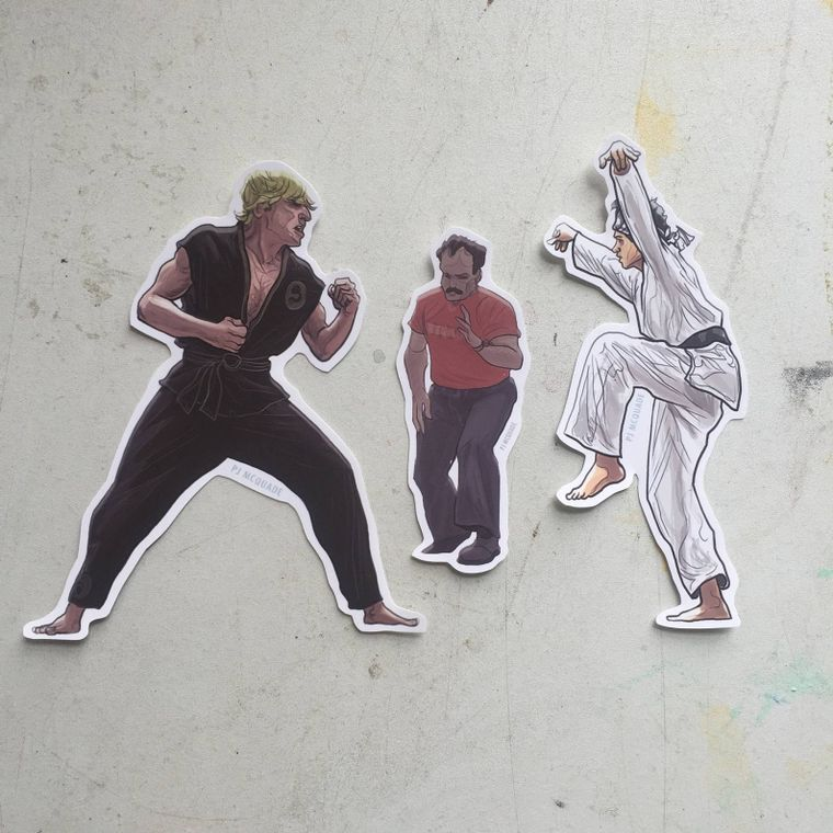 KARATE KID Waterproof Sticker SET