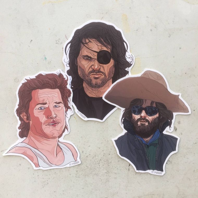 KURT RUSSELL Waterproof Sticker 3 Pack