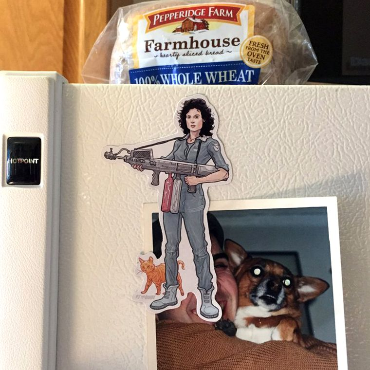 Ripley ALIEN Fridge Magnet