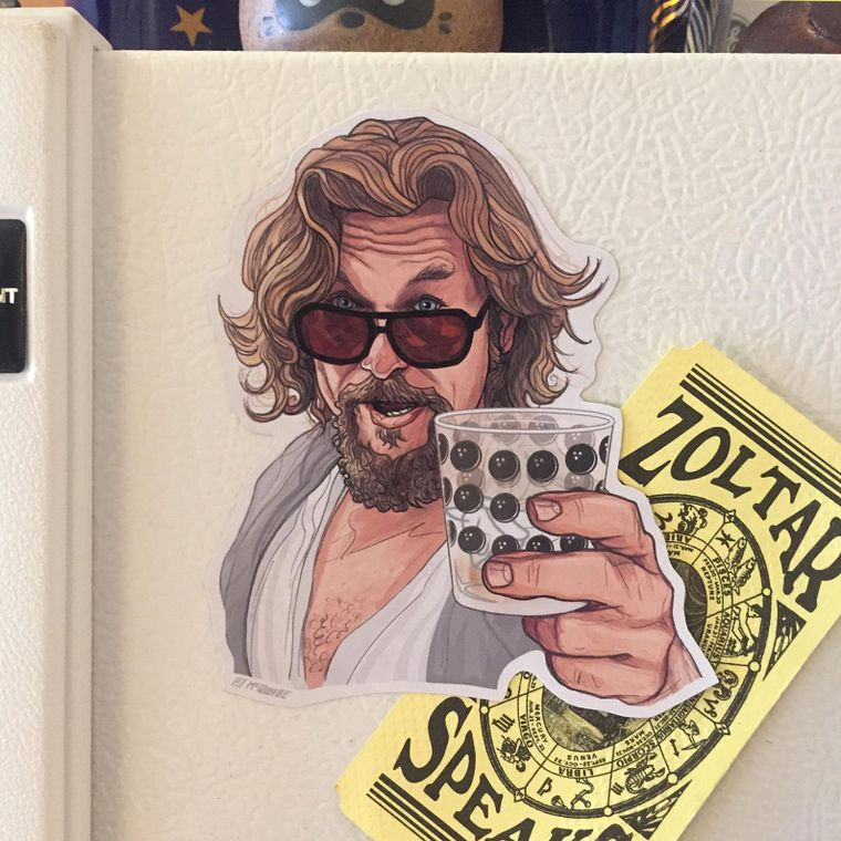 The Dude THE BIG LEBOWSKI Fridge Magnet