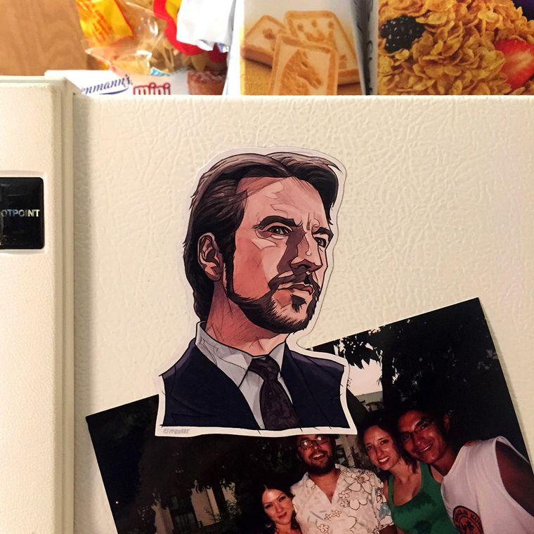 Hans Gruber DIE HARD Fridge Magnet