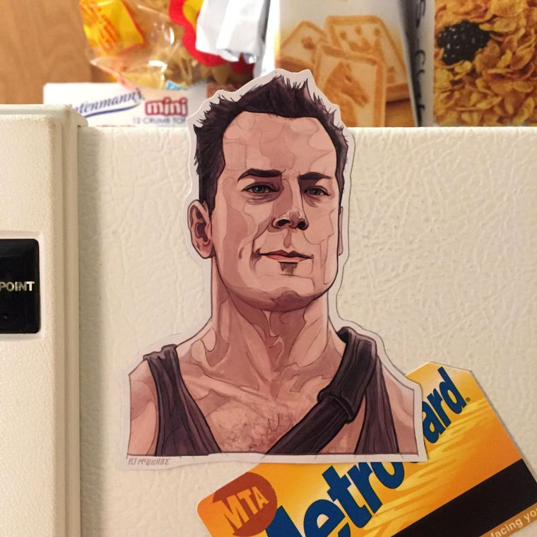John McClane DIE HARD Fridge Magnet