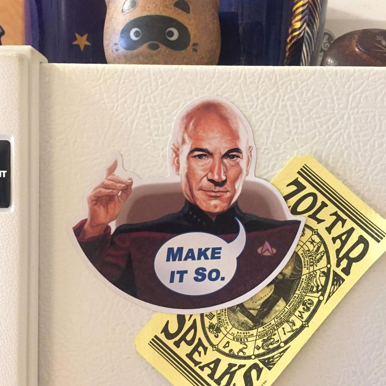 Picard STAR TREK Fridge Magnet