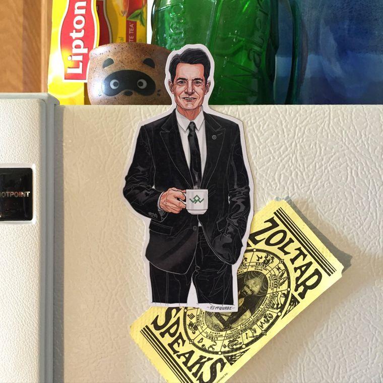 Agent Cooper TWIN PEAKS Fridge Magnet