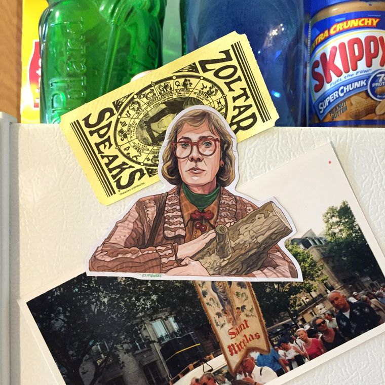 Log Lady TWIN PEAKS Fridge Magnet