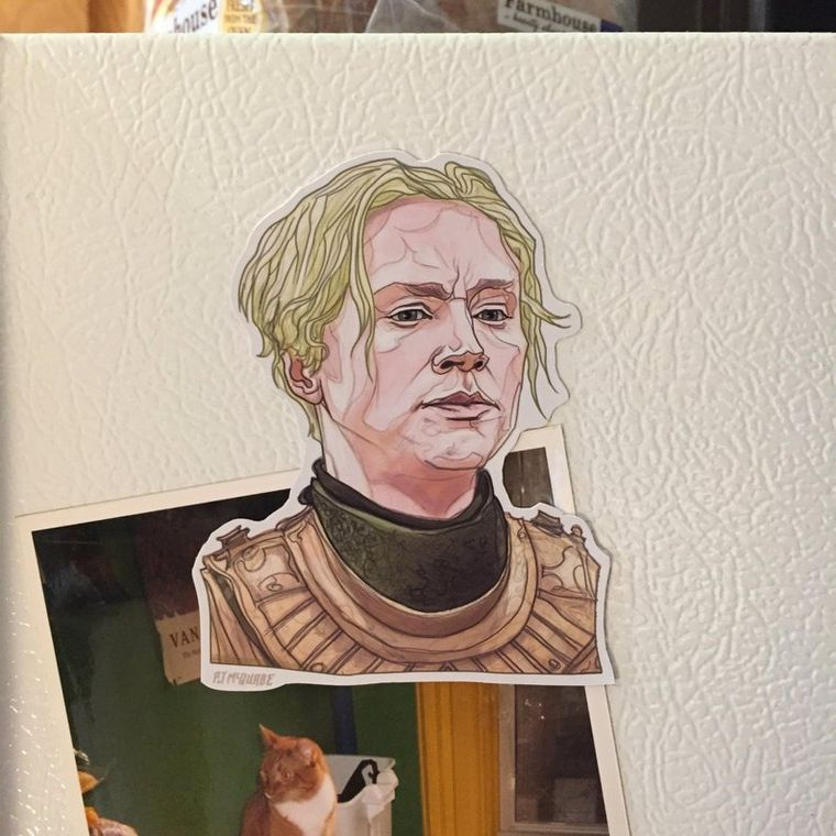 Brienne GAME of THRONES Fridge Magnet