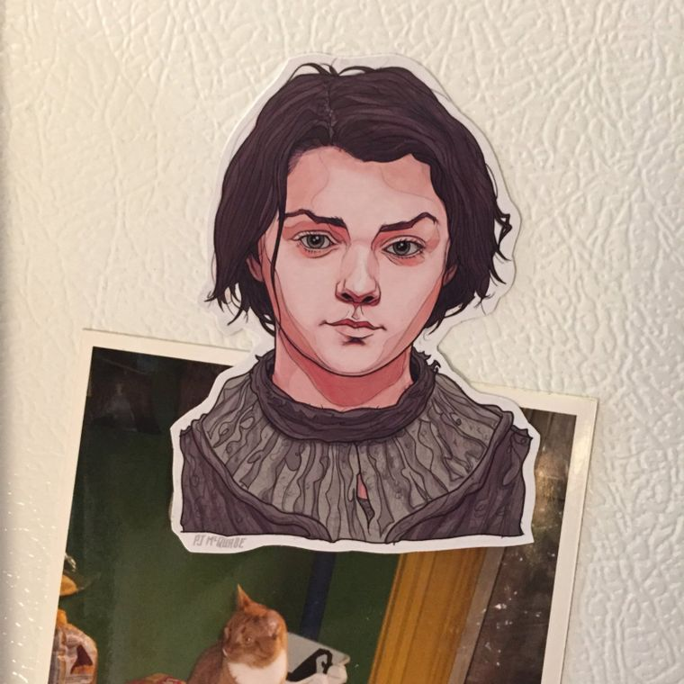 Arya Stark GAME of THRONES Fridge Magnet