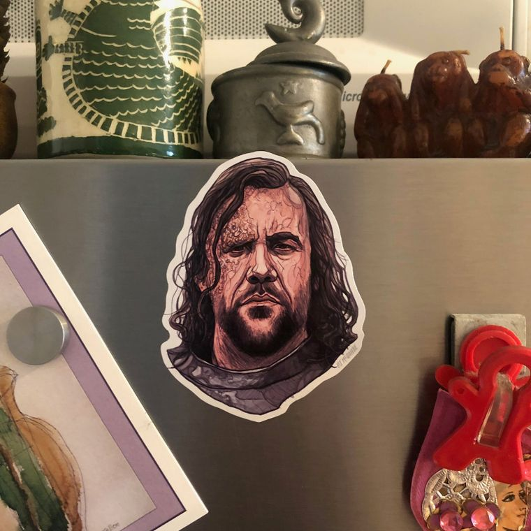 The Hound GAME of THRONES Fridge Magnet