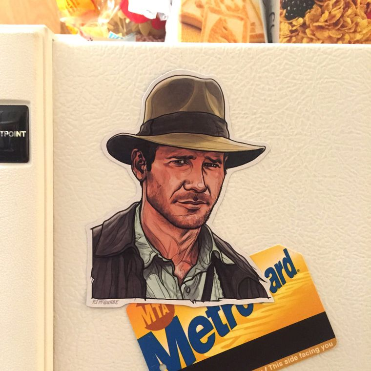 INDIANA JONES Fridge Magnet