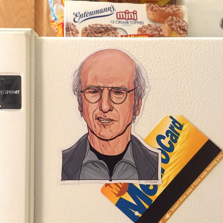 LARRY DAVID Fridge Magnet