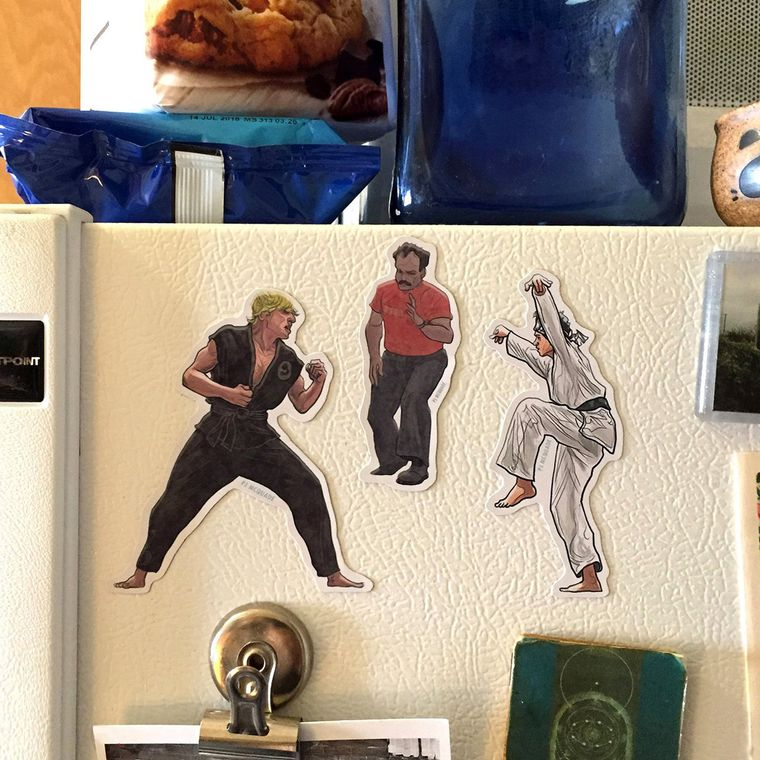 KARATE KID Fridge Magnet SET