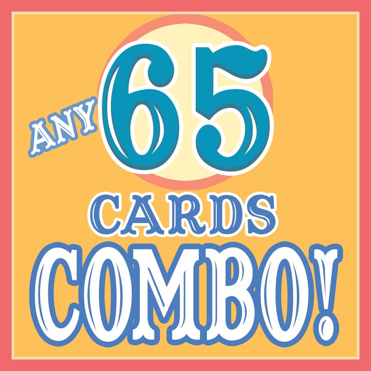 ANY 65 CARDS Discount COMBO