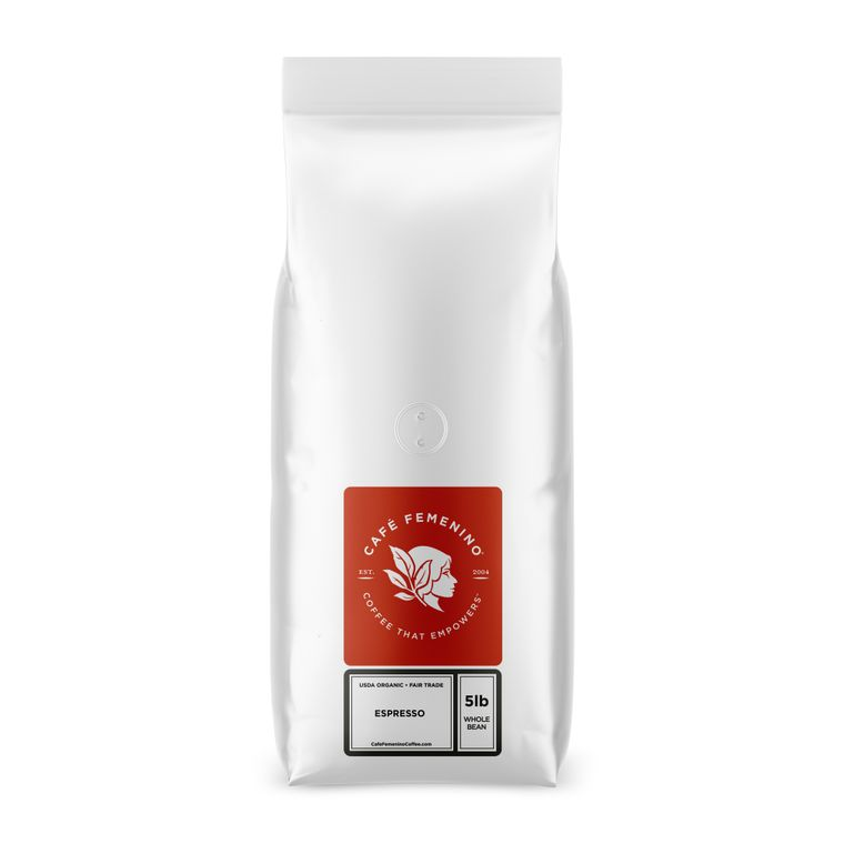 Organic Fair Trade Espresso Whole Bean Bulk Coffee