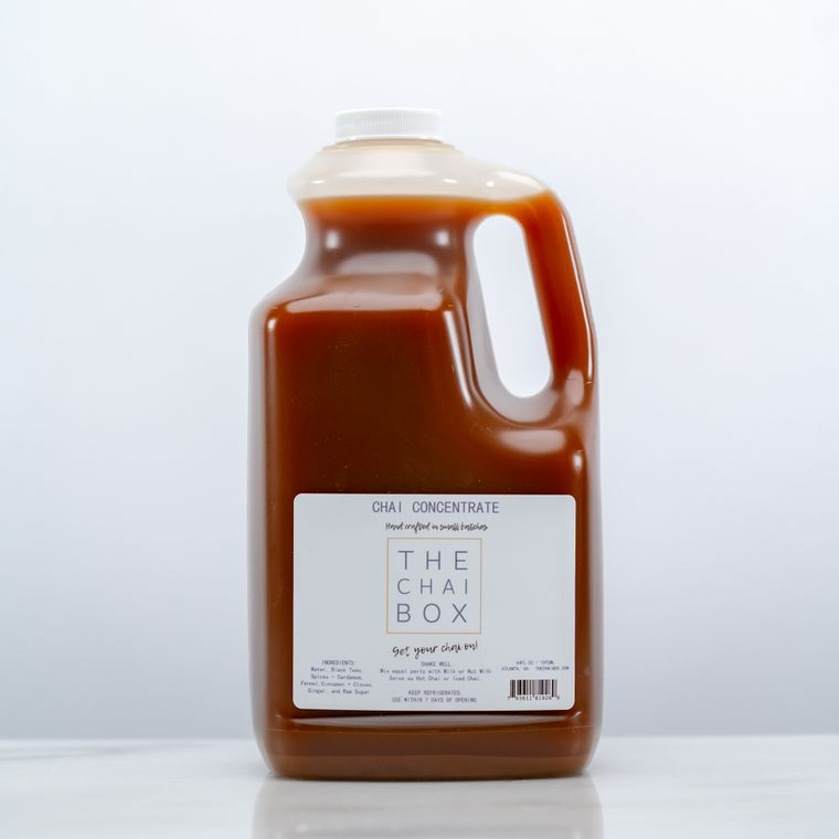 Chai Concentrate 64 OZ- 1/2 Gallon [Available in Eco-friendly plastic bottles ]