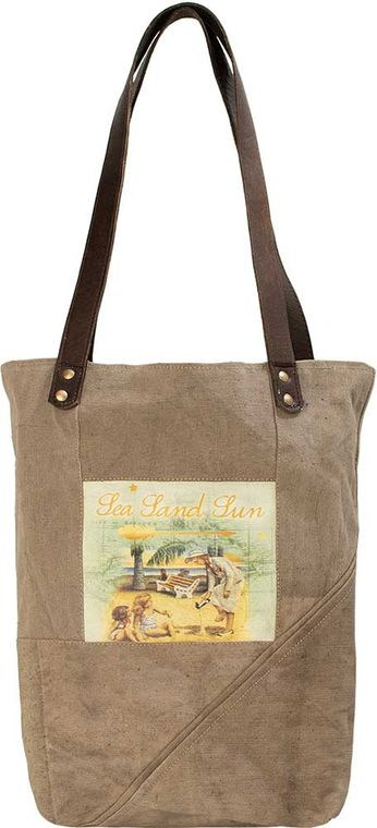 Sea, Sand & Sun  Recycled Military Tent Tote