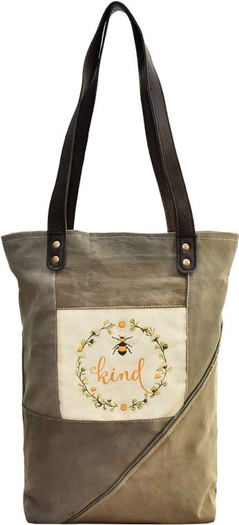Bee Kind  Recycled Military Tent Tote