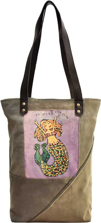 Go With The Flow  Recycled Military Tent Tote