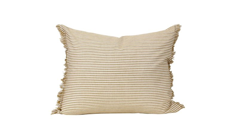 "Abby Stripe Mustard Pillow Cover 20"" x 16"""