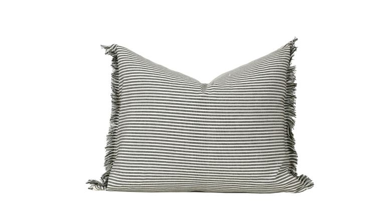 """Abby Stripe Olive Green Pillow Cover 20"""" x 16"""""""