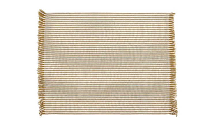 Abby Stripe Placemat Mustard Set Of 4