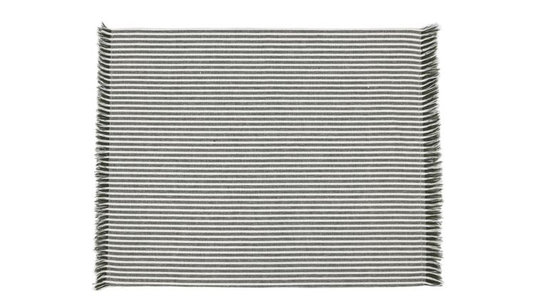 Abby Stripe Placemat Olive Green Set 4