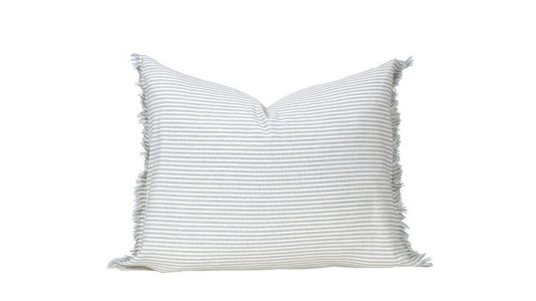 "Abby Stripe Powder Blue Pillow 20"" x 16"""