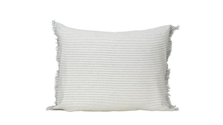 "Abby Stripe Powder Blue Pillow Cover 20"" x 16"""