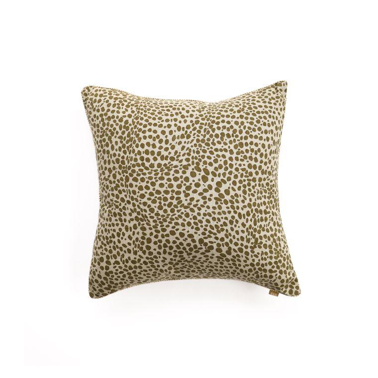 Animal Print Green Pillow