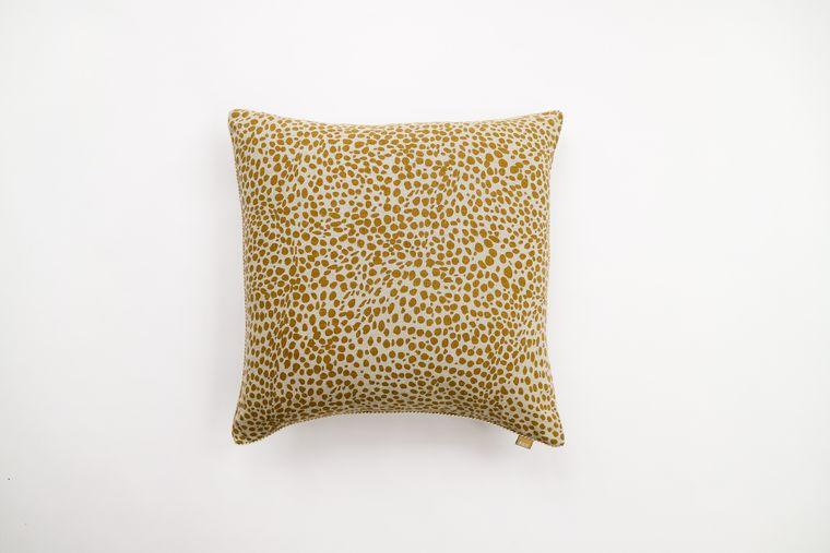 Animal Print Mustard Pillow