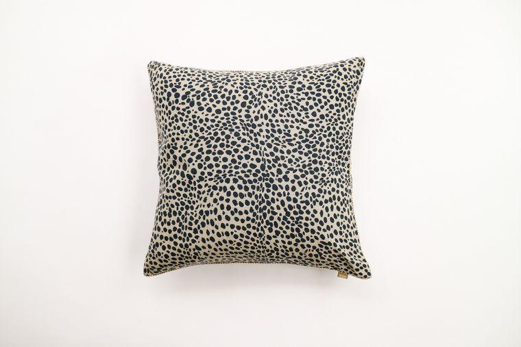 Animal Print Navy Pillow