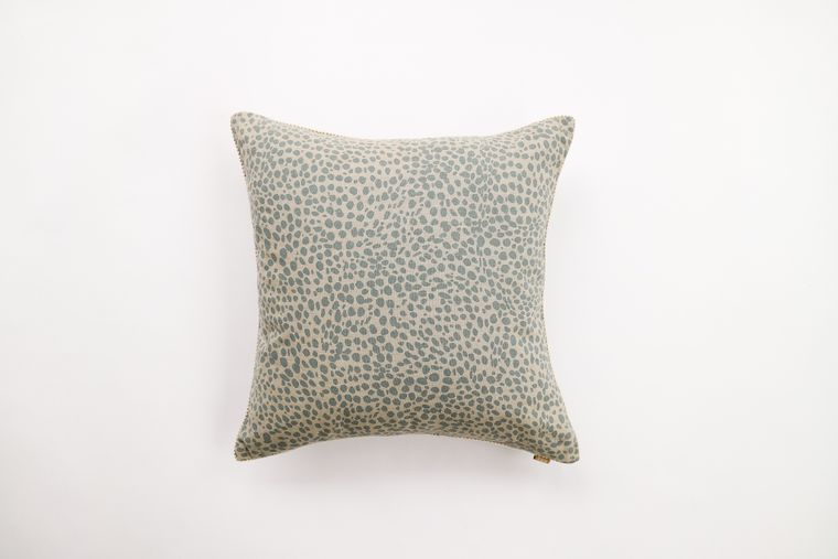 Animal Print Powder Blue Pillow