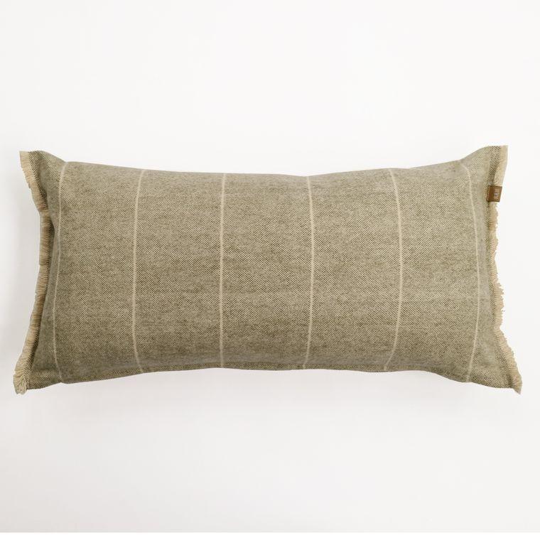 Brushed Wild Stripe Green Breakfast Pillow
