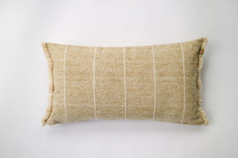 Brushed Wild Stripe Mustard Breakfast Pillow