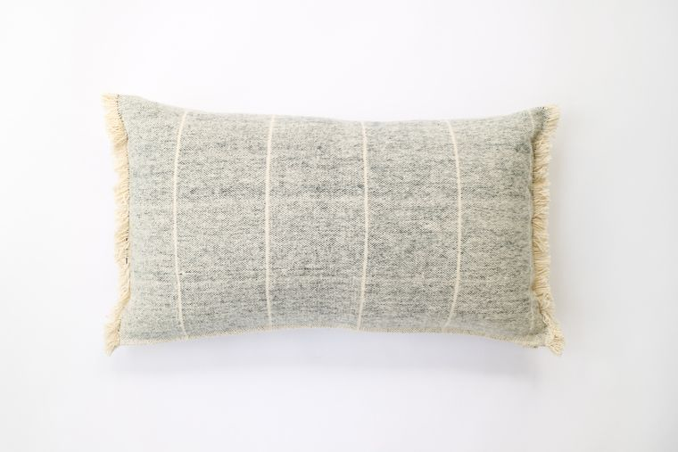 Brushed Wild Stripe Navy Breakfast Pillow