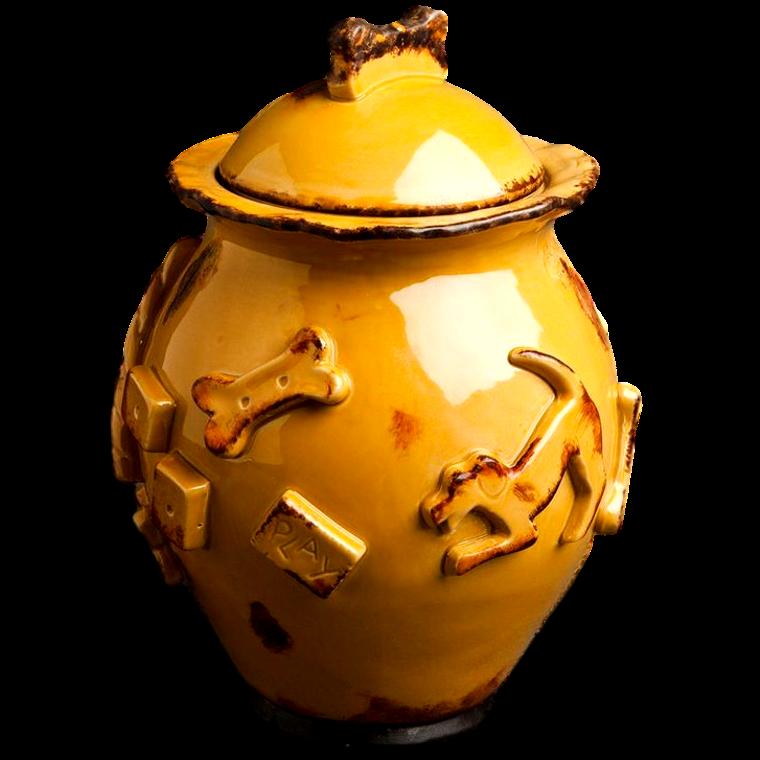 Dog Treat Jar - Caramel