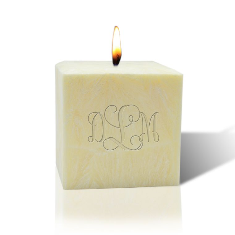 "Eco-Luxury 3"" Palm Wax Candle: Monogrammed"