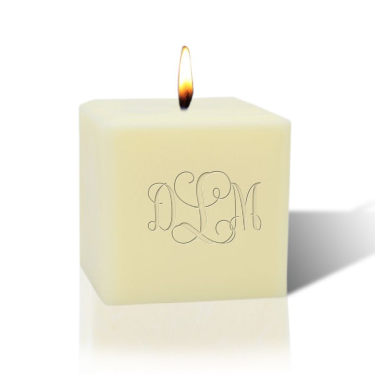 "Eco-Luxury 3"" Soy Wax Candle: Monogrammed"