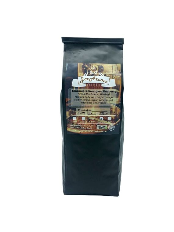 Tanzania Kilimanjaro Peaberry (16oz)  Ground